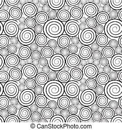 spiralförmiges muster