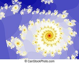 Spiralling fractal
