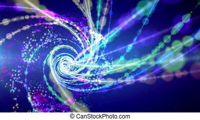"""Spirals forming time portal in cosmos"" - ""A wonderful 3d..."