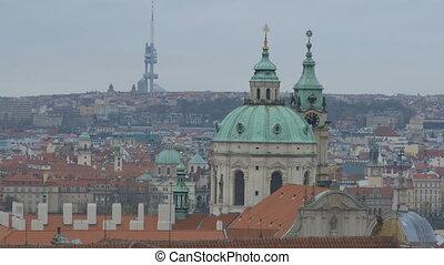 Spires in Old Prague City - Churches spires in old Prague...