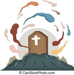 Spirit in tomb