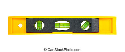 Spirit level. Isolated over white background with clipping ...