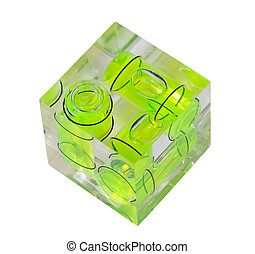 Spirit level to set camera parallel to ground - Three green ...