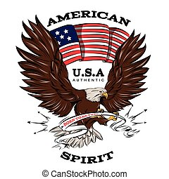 Spirit Of USA Emblem - Spirit of USA emblem with american...