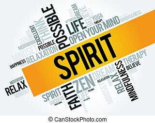Spirit word cloud