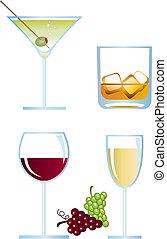 Spirits - Clip-arts of alcoholic drinks