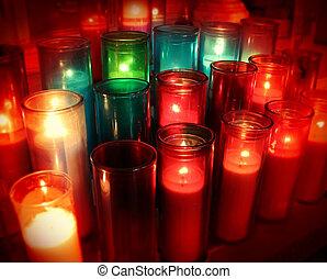 Spiritual Candles - Spiritual candles as a candlelight...