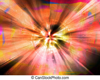 Spiritual Explosion - Cosmic Energy Spreading the Universe