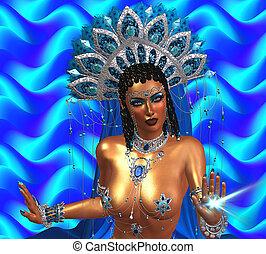 Spiritual healer woman.