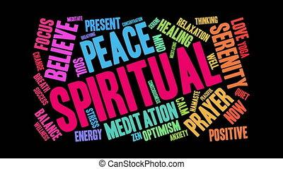 Spiritual Word Cloud - Spiritual word cloud on a white...