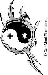 Spiritual Yin and Yang symbol