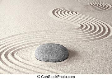 spiritual zen meditation background in Japanese rock garden...