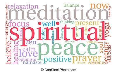 spirituale, parola, nuvola