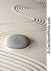 spirituale, zen, meditazione, giardino