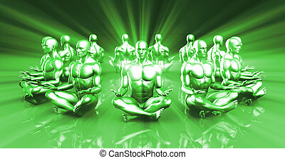 Spirituality and Enlightenment Through Rays of Light