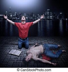 spirituel, mort, augmenté