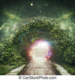 spirituel, univers, résumé, arrière-plans, portail, autre