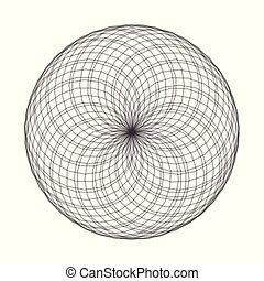 Spirograph element vector illustration on white background. Abstract symbol.