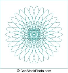 Spirograph geometric shape suitable for watermark - vector ...
