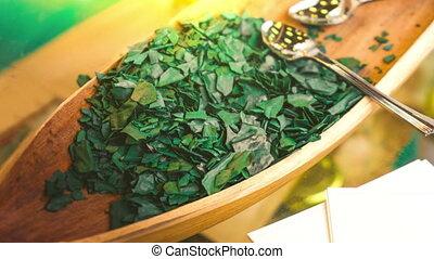 spirulina algae - spirulina is a superfood used as a food...