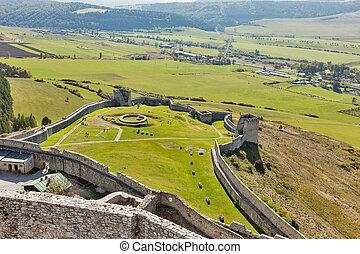 Spis Castle in Spisske Podhradie, Slovakia. - Spis Castle...