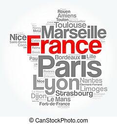 spis, od, miasta, i, miasta, w, francja