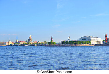 Spit of Vasilyevsky Island and Neva River. - Spit of ...