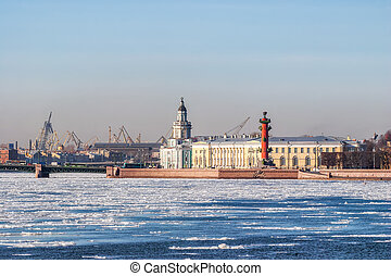 Spit of Vasilyevsky Island. - View of the Spit of ...