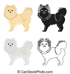 Spitz single icon in cartoon style.Spitz vector symbol stock illustration web.