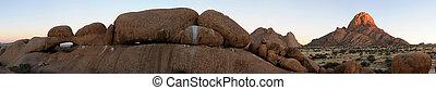 Spitzkoppe panorama, Namibia