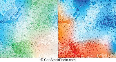 splash backgrounds - colorful splash backgrounds, eps10...