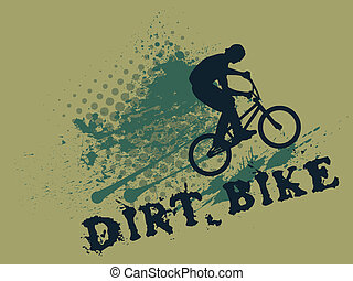 splash biker - Vector biker silhouette on grunge background