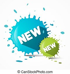 Splash - Blot - Stain with New Title Vector Illustration