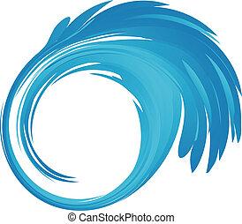 Splash blue water vector