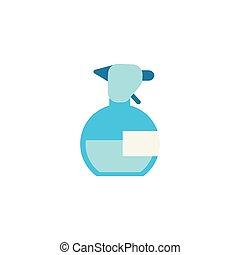 splash bottle of water flat style icon