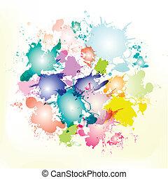 splash circle  illustration