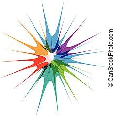 Splash color burst logo