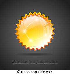 Splash glass star