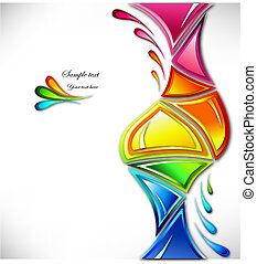 Splash in various colours of the triangular form. Vector