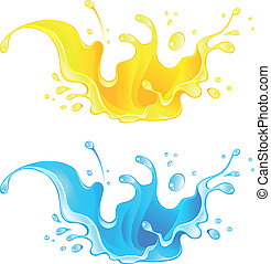 Splash Juice Drink. Water splash - Big central splash for...