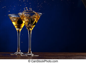 Splash martini - Pair glass of martini