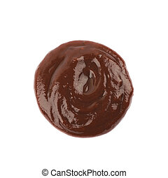 Splash of barbecue sauce isolated
