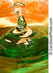 Splash of orange juice.