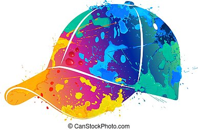 splash of watercolors baseball cap
