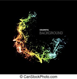 Splash paint, colorful multicolored background. Vector illustration