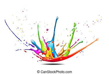 splash - abstract illustration of a colorful ink splash