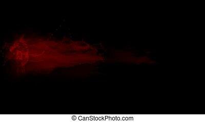 splash red fluid, blood & plasma