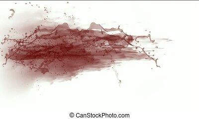 splash red fluid,blood & plasma