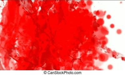 splash red paint fluid,liquid & ink