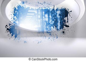 Splash showing data hallway